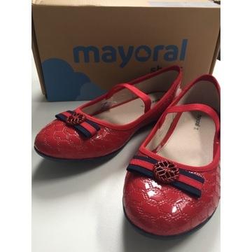 Mayoral Lakierki baleriny czerwone roz. 34