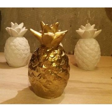 Ananas dekoracje gipsowe figurki wys 13 cm