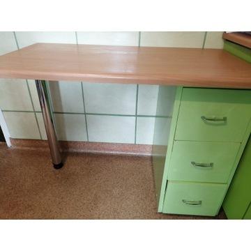 Biurko zielone szuflady