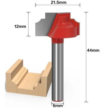 Frez kształtowy do ozdabiania drewna 6 x 21,5x12mm