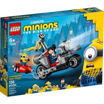 LEGO MINIONS Niepowstrzymany motocykl ucieka 75549