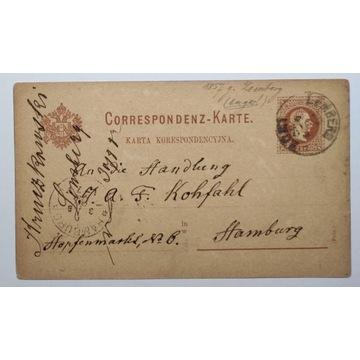 CP 4b Karta Korespondencyjna LWÓW 1882