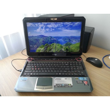 Laptop MSI GT683 i7 GTX560M 8GB RAM SSD 750 EVO 25
