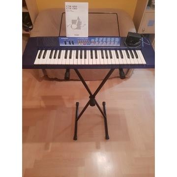 Keyboard Casio CTK-130 + Statyw+ Zasilacz