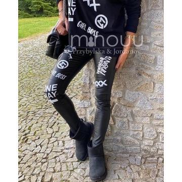 Minouu leginsy SoHo leather M/L legginsy