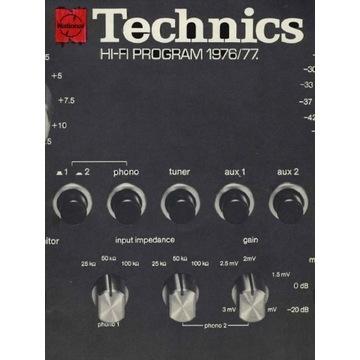 Katalog Technics z 1976-1977