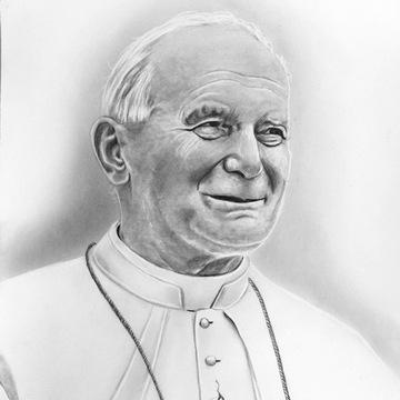 Jan Paweł II, Papież, Karol Wojtyła rysunek A3.