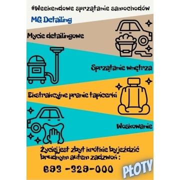 Sprzątanie, mycie aut