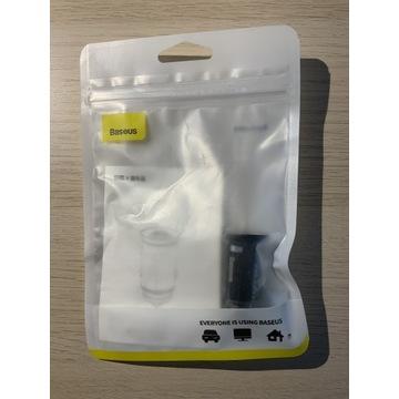 Ładowarka samochodowa QC3.0, 2xUSB, USB/USB-C