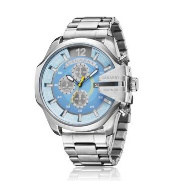 Zegarek męski Cagarny - niebieski
