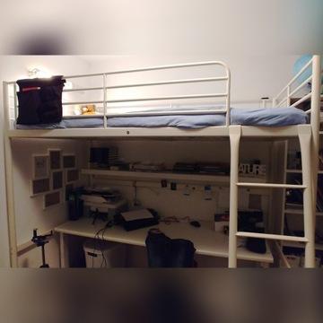 łóżko piętrowe na antresoli IKEA  SVÄRTA - komplet