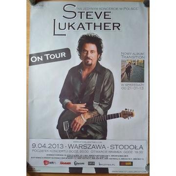 Steve Lukather plakat koncert, nowy Warszawa 2013