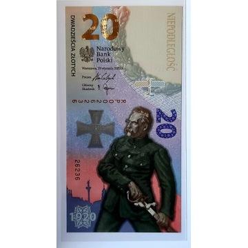 3 x banknot 20zł BITWA WARSZAWSKA 2020R. + foldery