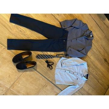 Armani, H&M marynarka koszula spodni chłopiec 134