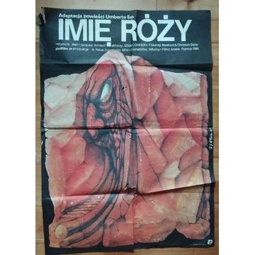 Plakat kinowy filmu Imię Róży