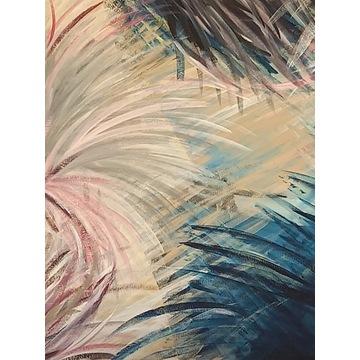 Obraz abstrakcja - akryl 100x100