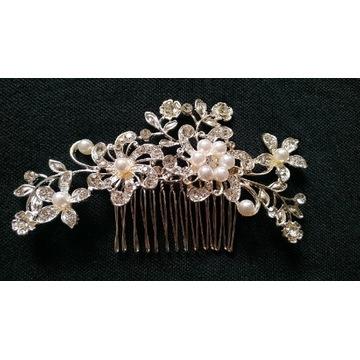 Ozdoba do włosów ślub grzebyk perły