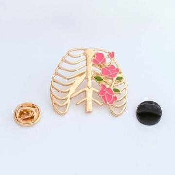 klp klatka piersiowa broszka lekarz medycyna pin
