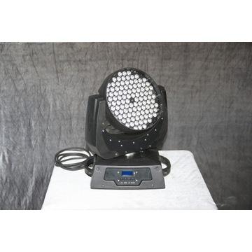 4 x Ruchoma głowa Wash LED 108 x 3 W + case GRATIS