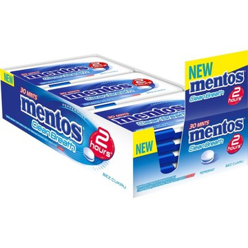 MENTOS 2 HOURS CLEAN BREATH PEPPERMINT 21G x12