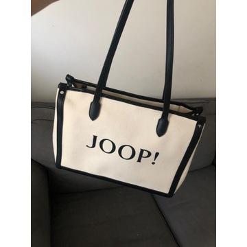 Torebka torba joop lelia shopper czarna Biala