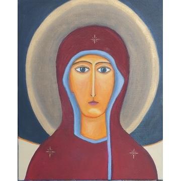 Maryja 40X50  OBRAZ OLEJNY zawerniksowany