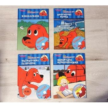 4 x Książki dla dzieci * CLIFFORD * czerwony pies