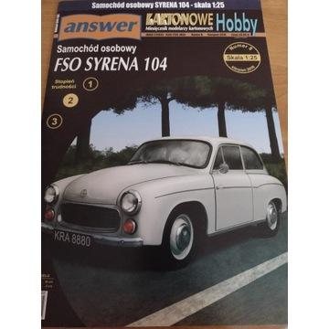Model kartonowy Answer FSO Syrena 104