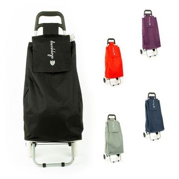 Wózek torba na zakupy na dwóch kółkach składany