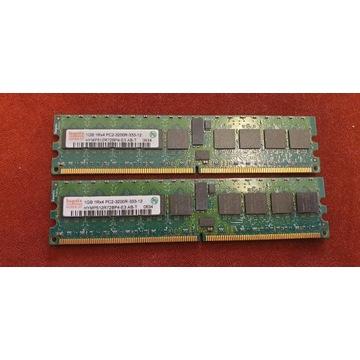 Pamięć RAM 2x1GB ECC 1Rx4 PC2-3200R-333-12 XYNIX
