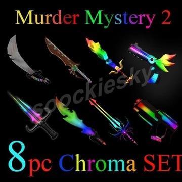 ROBLOX Murder Mystery 2 Chroma SET 8
