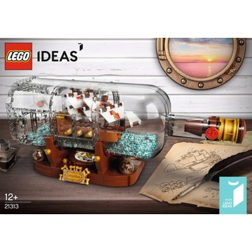 Lego Ideas 21313 Statek w butelce Ship in a Bottle