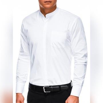 Koszula męska z długim rękawem, ze stójką