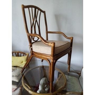Krzesła rattan szt 4 po 85 zł/szt. brutto