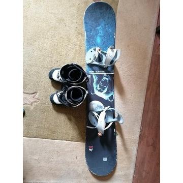 Snowboard buty +wiązania