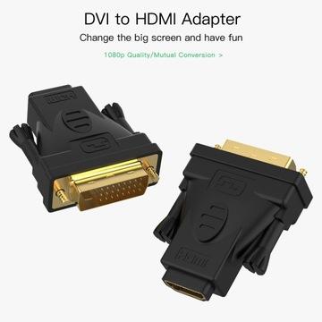 HDMI-DVI 24+1, Video Adapter dwustronny, DVI-HDMI,