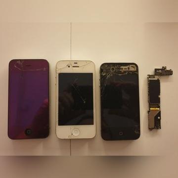 3 sztuki IPhone 4 4S oraz Płyta głowna na części