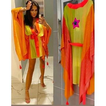 Kimono plazowe narzutka plazowa one size