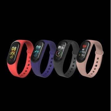 Opaski sportowe smartwatch smartband M4 NOWE (RED)