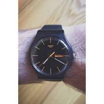 Swatch SUOB704 New Gent 41mm Dark Rebel