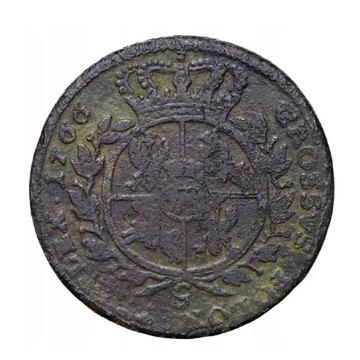 Poniatowski, Trojak 1766  zbrojarz