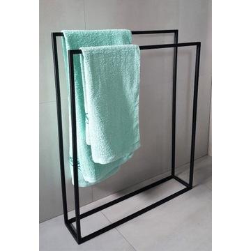 Stojak wieszak ręczniki czarny loft