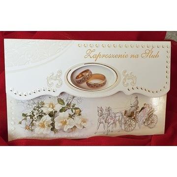 Zaproszenia Ślubne,do uzupełnienia z kopertą.