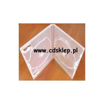Etui plastikowe na 2 CD DVD 14mm przezroczyste