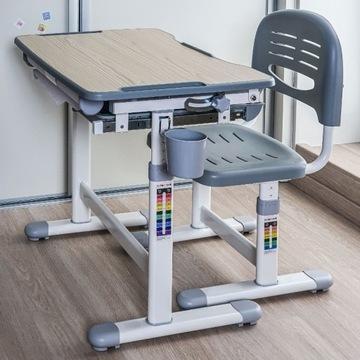 Biurko + Krzesełko dla dziecka zestaw Bambino Grey