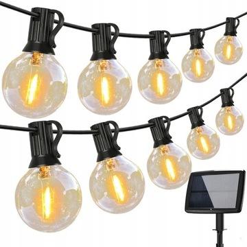 Girlandy Lampki Solarne Ogrodowa 25 LED 7.6M 3W