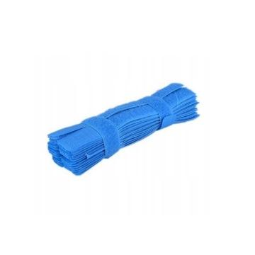 Opaski na kable rzepy 20mm 17cm 10szt niebieskie