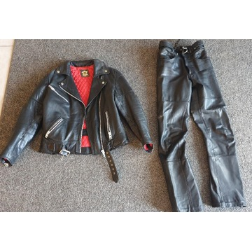 Zestaw kurtka spodnie motocyklowe skóra