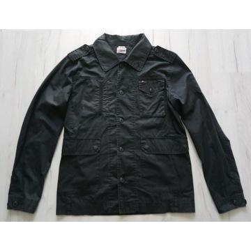 Efektowna męska koszula Tommy Hilfiger czarna r. L