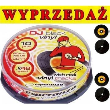 NOWE płyty Esperanza DJ Vinyl BLACK 10szt. OKAZJA